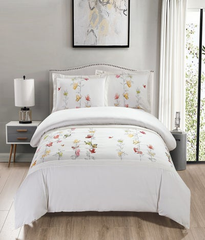 Maholi - Spring Meadow Embroidered Duvet Cover Set